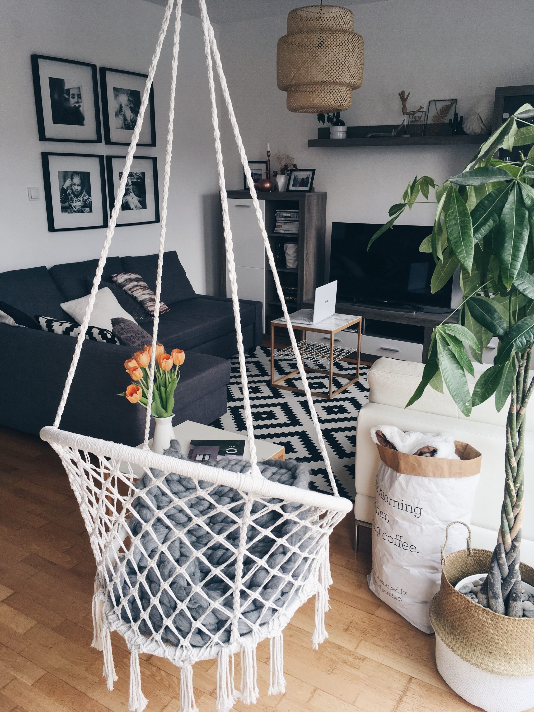 Ideja za dnevni boravak, Jysk viseca stolica, Ikea dnevni boravak