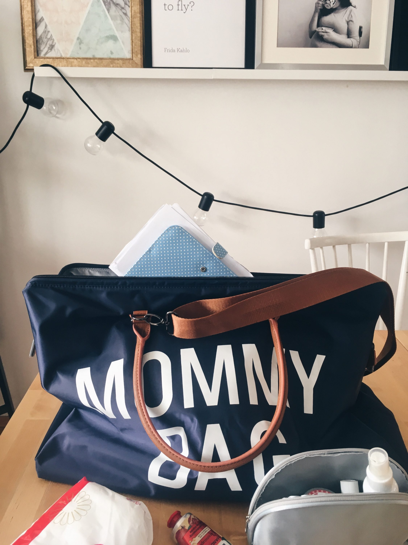 Plava torba za rodilište Mommy bag