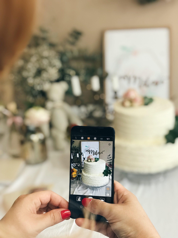 fotografija torte dekoracija za krštenje