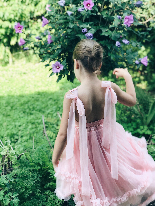 roza haljina za curice