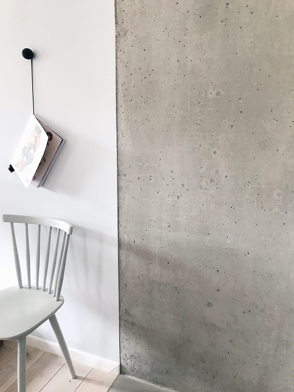 concret kitchen wall, betonski zid interijer