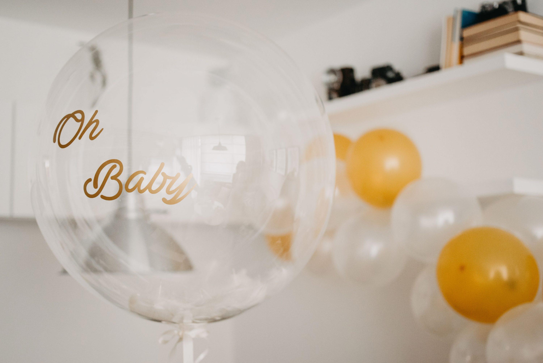 prozirni balon sa helijem Oh baby