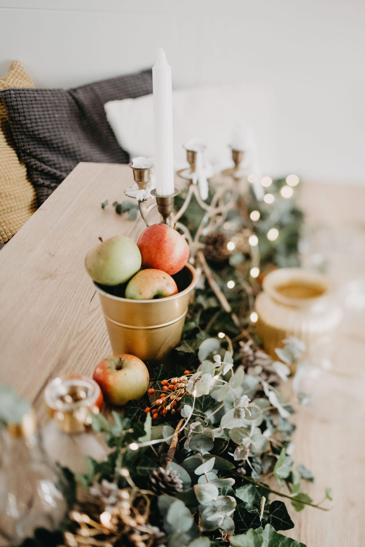 jesenska dekoracija stola