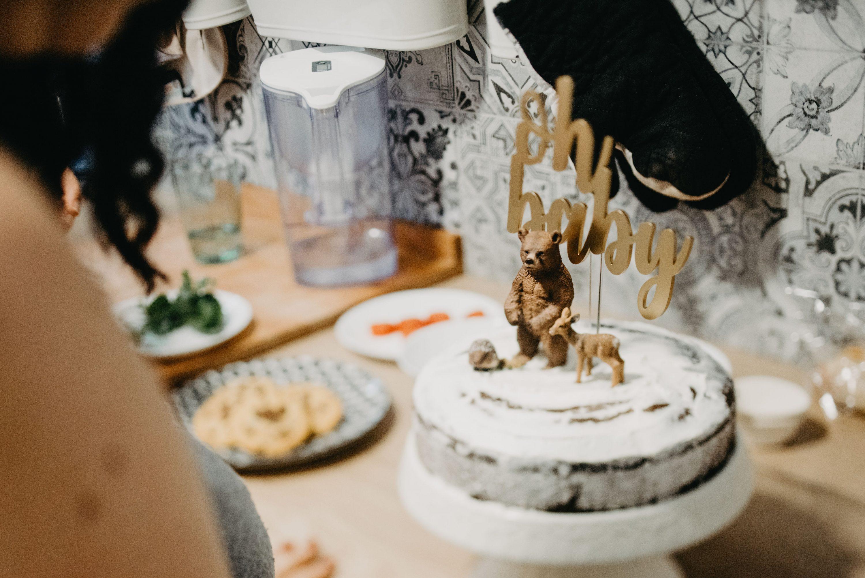 baby shower torta sa šumskim životinjama