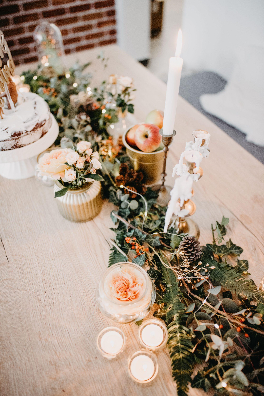 dekoracija stola za jesen