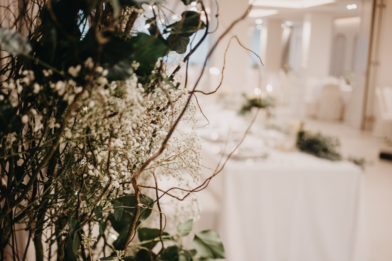 vrba kao dekoracija sale za vjenčanje