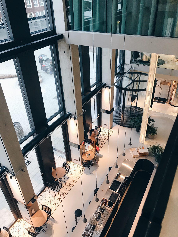 hotel qo amsterdam top lobby view